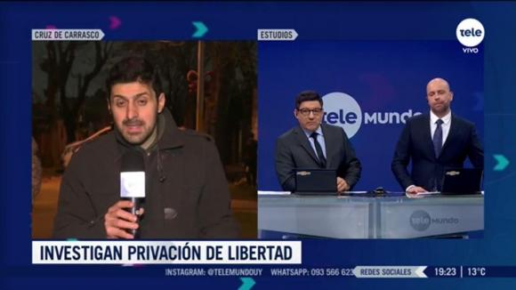 Miguel Chagas en el móvil desde La Cruz de Carrasco