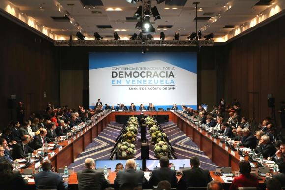 Conferencia Internacional en Lima por la democracia en Venezuela. Foto: EFE