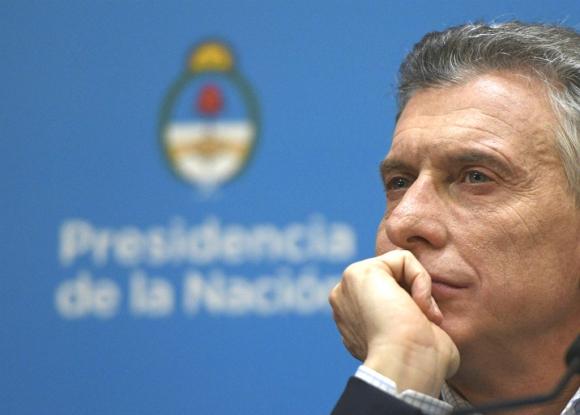 Mauricio Macri en conferencia de prensa tras la derrota en las elecciones internas. Foto: AFP