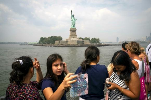 Estatua de la Libertad en Nueva York. Foto: AFP