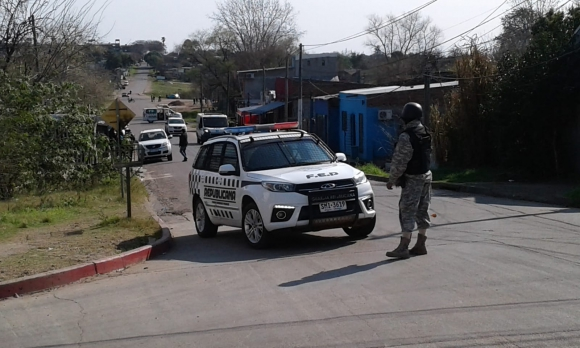 Operativo anti drogas en Salto. Foto: Luis Pérez