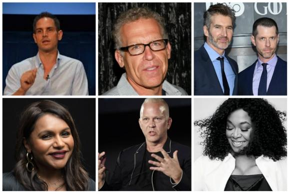 Ryan Murphy, Mindy Kaling, Carlton Cuse, Shonda Rhimes, Greg Berlanti y David Benioff y D.B. Weiss, exclusivos del streaming. Foto: Difusión