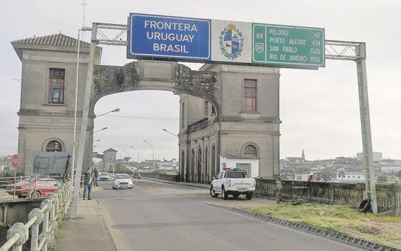 Frontera Uruguay-Brasil. Foto: Francisco Flores.
