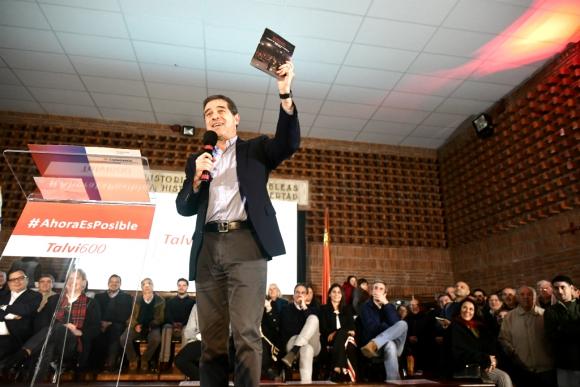 Ernesto Talvi habla en el lanzamiento de la lista 600. Foto: Fernando Ponzetto
