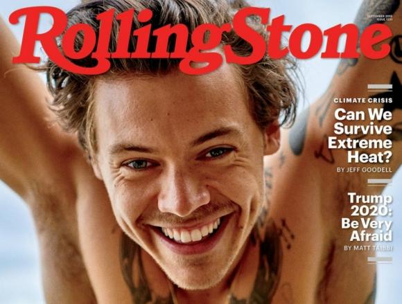 Harry Styles protagoniza la portada de Rolling Stone encendiendo las redes sociales. Foto: Difusión