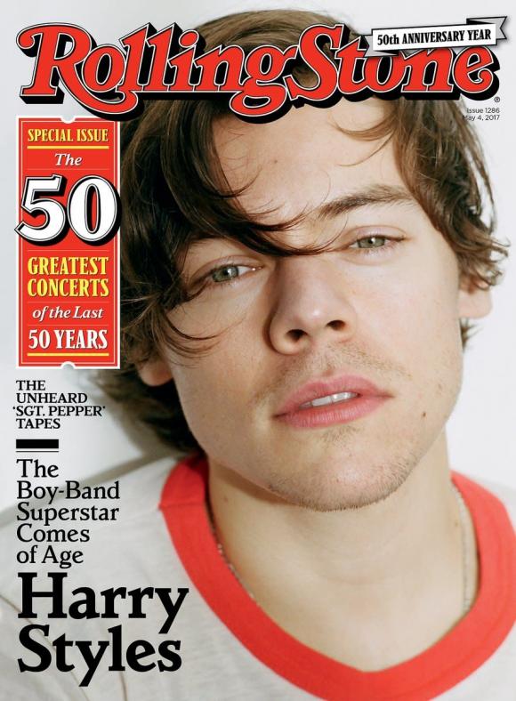 La primer portada de Harry Styles en la revista Rolling Stone. Foto: Difusión