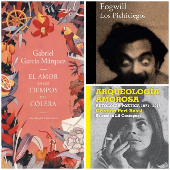 Los pichiciegos, Arqueología Amorosa y El amor en los tiempos del cólera, los libros en la redacción. Foto: Difusión