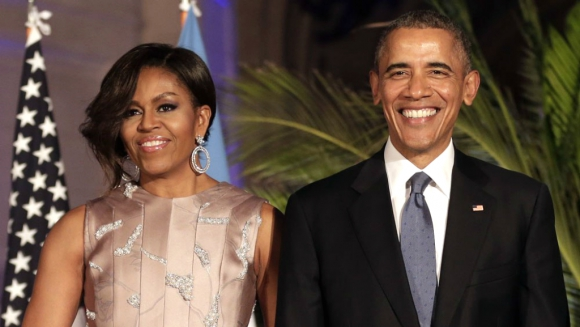 Michelle y Barack Obama. Foto: AFP