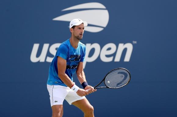 Novak Djokovic en el US Open