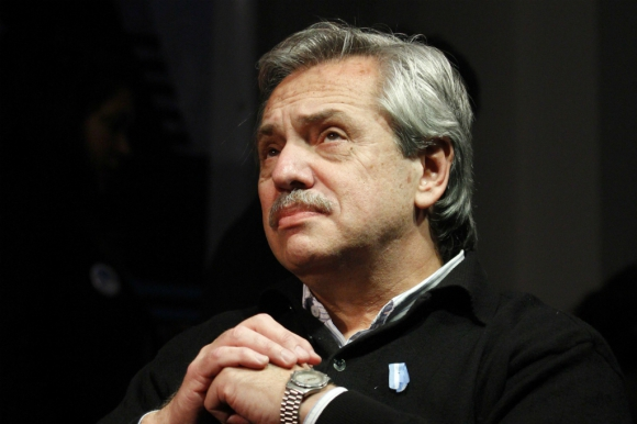 Alberto Fernández, candidato presidencial argentino. Foto: AFP