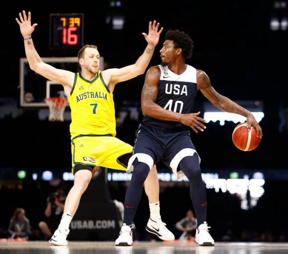 Australia venció por primera vez en la historia a Estados Unidos. Foto: Twitter oficial NBA.