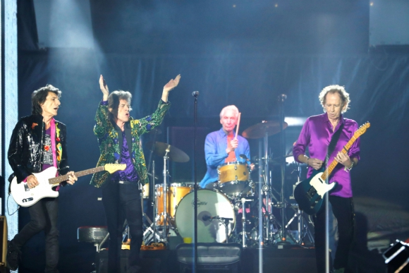 The Rolling Stones en concierto. Foto: Reuters