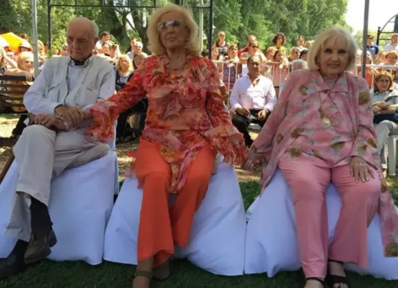 Mirtha Legrand con sus hermanos