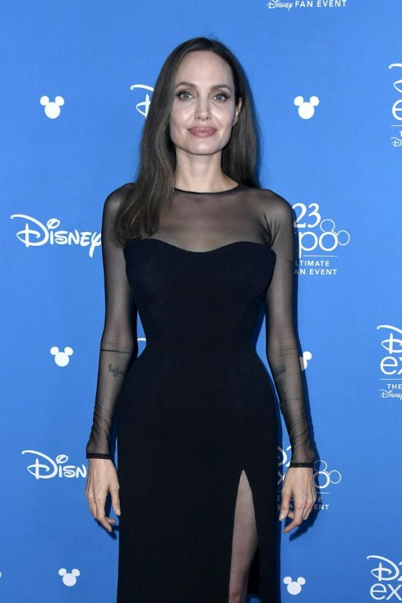 Angelina Jolie, miembro de The Eternals con presencia en la D23. Foto: AFP