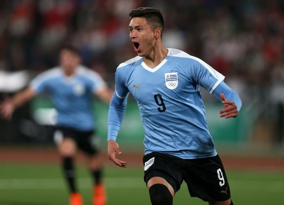 Darwin Núñez en la selección uruguaya de los Juegos Panamericanos