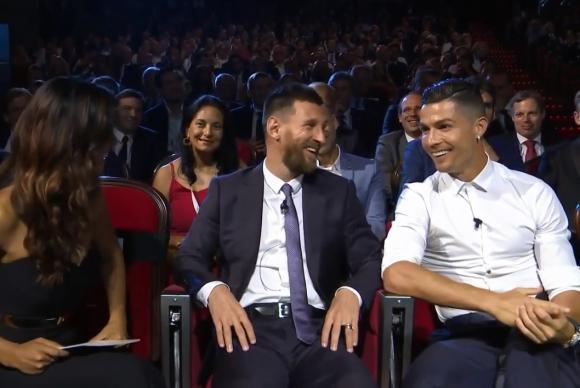 Lionel Messi y Cristiano Ronaldo en la gala de premios de la UEFA 2019