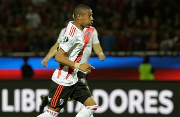El festejo de Nicolás de la Cruz tras su gol a Cerro Porteño