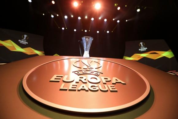 El trofeo de la Europa League. Foto: AFP.