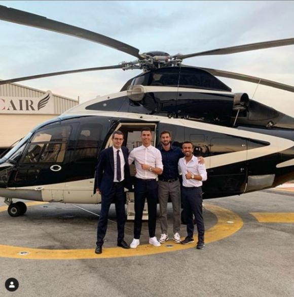 Cristiano Ronaldo fue a Mónaco y regresó a Turín en helicóptero
