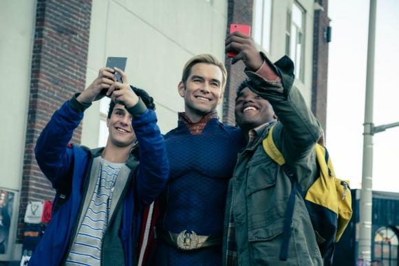 """Antony Starr es """"Homelander"""", una especie de Superman pero sin tan buenas intenciones. Foto. Difusión"""