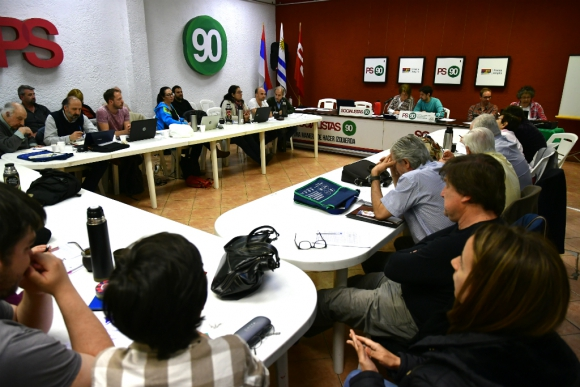 Reunión del Partido Socialista. Foto: Fernando Ponzetto