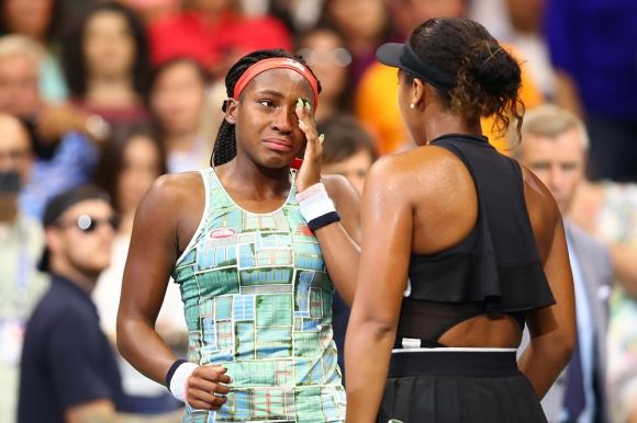 Coco Gauff y Naomi Osaka en el US Open 2019