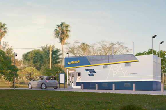 Nuevos surtidores de autoservicio de Ancap. Foto: Prensa Ancap.