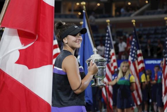 Bianca Andreescu en la final del US Open 2019