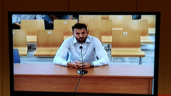 Cristhian Stuani declarando en Valencia
