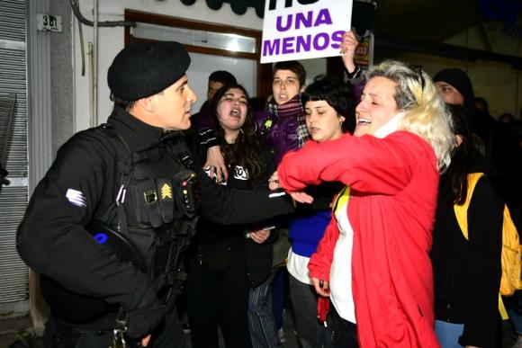 Incidentes en Florida por un nuevo caso de femicidio. Foto: Marcelo Bonjour