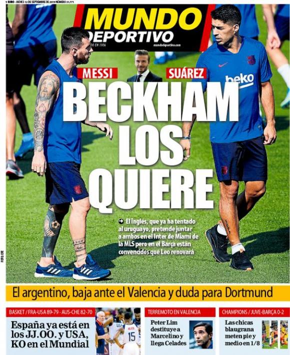 Portada del jueves del diario español Mundo Deportivo, que anuncia la noticia. Foto: @mundodeportivo