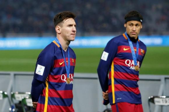 Lionel Messi junto a Neymar en su estadía en Barcelona. Foto: Reuters