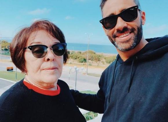 Pollo Álvarez y su madre