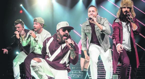 Backstreet Boys en vivo. Foto: AFP