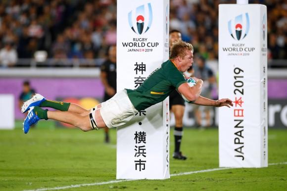 El try de Pieter-Steph du Toit en el Nueva Zelanda vs. Sudáfrica