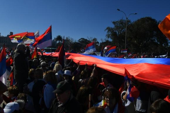 Banderolazo Frente Amplio. Foto: Leonardo Mainé.