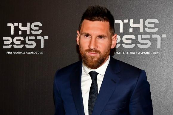 Lionel Messi en la gala de The Best. Foto: AFP.