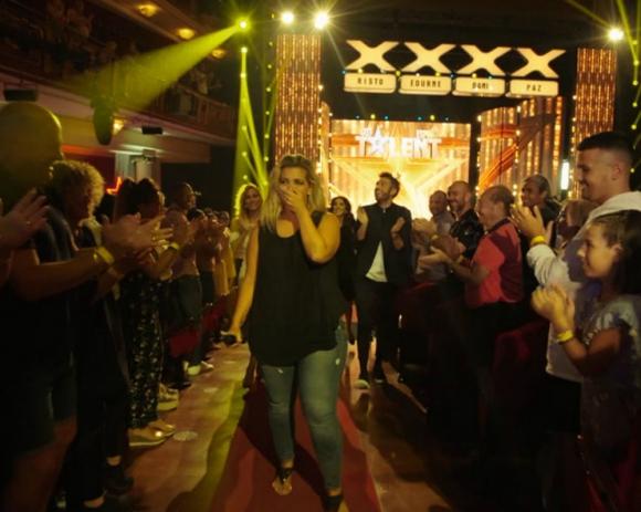 """Florencia Pasquet en """"Got Talent España"""". Foto: Telecinco."""
