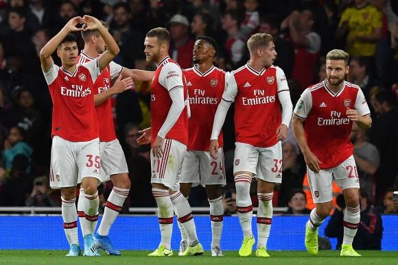 Arsenal 5-0 Nottingham Forest. Foto: AFP.