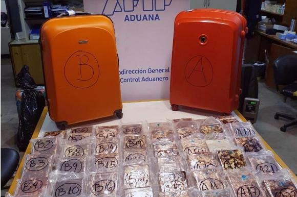 Incautación de cocaína. Foto: La Nación - GDA