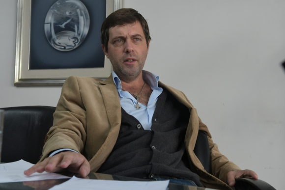 Ignacio Alonso, presidente de la AUF. Foto: Francisco Flores.