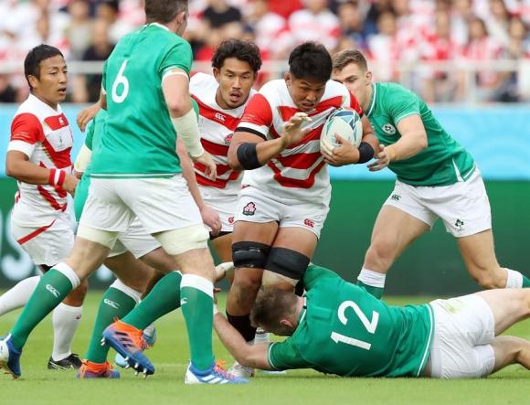 Japón venció a Irlanda y sacudió el tablero en el Mundial de rugby. Foto: EFE.