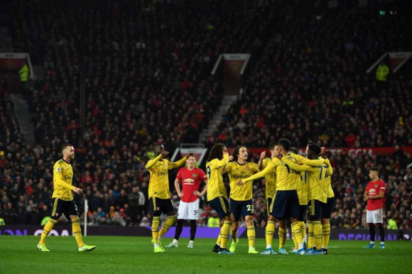 Arsenal 1- 1 Manchester United. Foto: AFP.