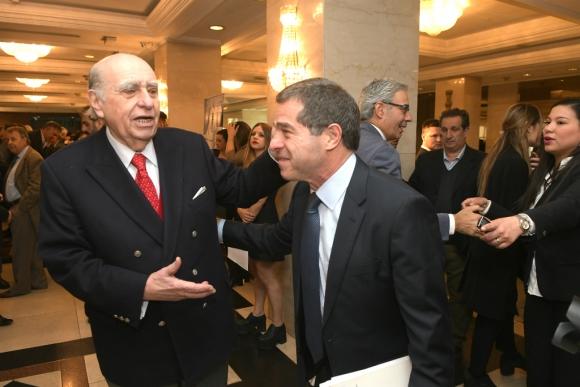 Julio María Sanguinetti junto a Ernesto Talvi. Foto: Leonardo Mainé