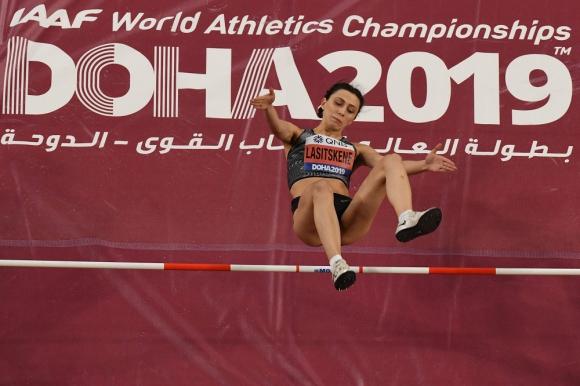Maria Lasitskene en el Mundial de Atletismo de Doha 2019 en Salto alto
