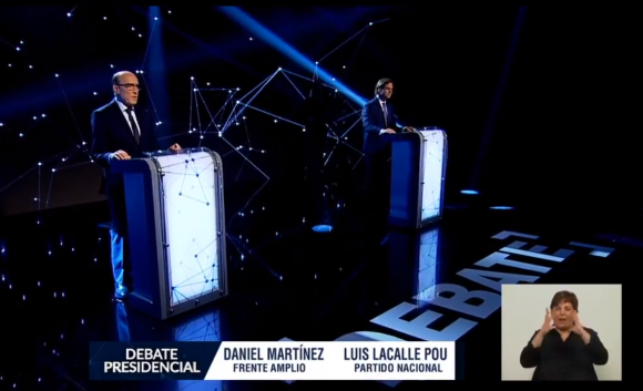 Debate entre Luis Lacalle Pou y Daniel Martínez