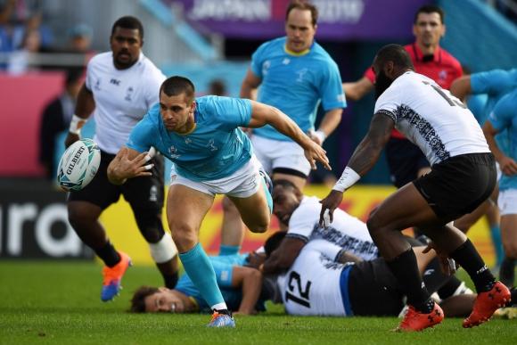 Uruguay consiguió un histórico triunfo ante Fiji en la primera jornada del Mundial.