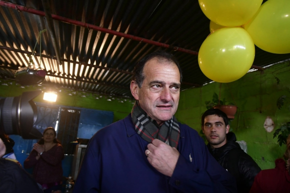 Guido Manini Ríos en acto en Casabó. Foto: Fernando Ponzetto.