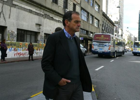 Manini Ríos esta mañana, cuando concurrió a declarar ante el fiscal Morosoli. Foto: Darwin Borrelli