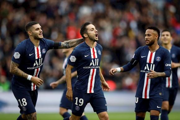 El PSG sin Cavani goleó 4-0 al Angers por Ligue 1. Foto: Efe.